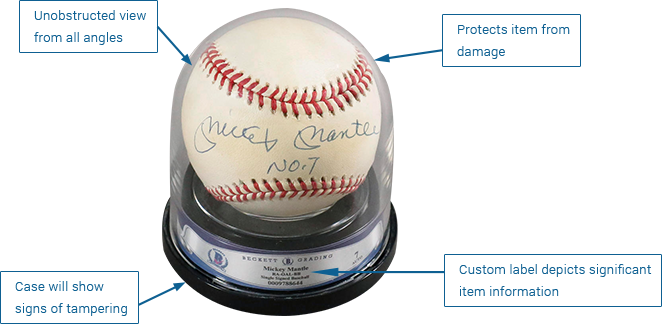 Baseball Encapsulation Protect Autographs On Baseballs Beckett